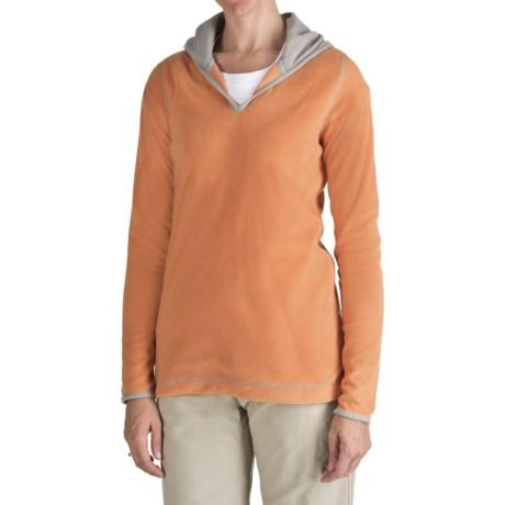 Aventura Clothing Fleece Hoodie Sweatshirt (For Women) in Coral Gold