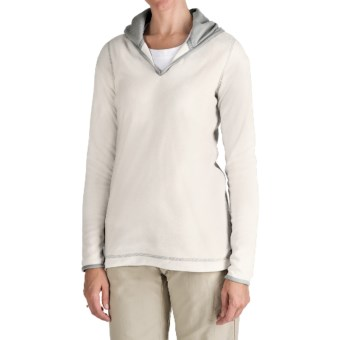 Aventura Clothing Fleece Hoodie Sweatshirt (For Women) in White