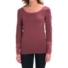 Aventura Clothing Floral Pullover Shirt - Zip Neck, Long Sleeve (For Women) in Garnet Rose - Closeouts