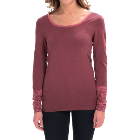 Aventura Clothing Floral Pullover Shirt Zip Neck, Long Sleeve (For Women)