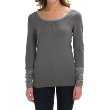 Aventura Clothing Floral Pullover Shirt - Zip Neck, Long Sleeve (For Women) in Quiet Shade - Closeouts
