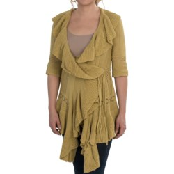 Aventura Clothing Francesca Cardigan Sweater - 3/4 Sleeve, Tie Waist (For Women) in Olivenite