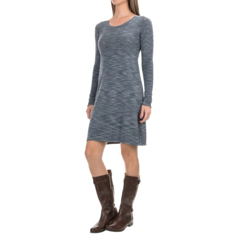 Aventura Clothing Gemma Dress - Long Sleeve (For Women) in Grisaille
