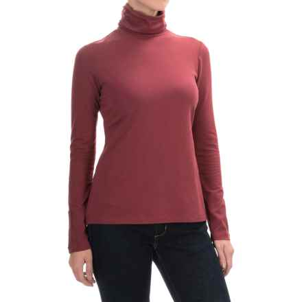 Aventura Clothing Glenora Turtleneck - Long Sleeve (For Women) in Merlot - Closeouts