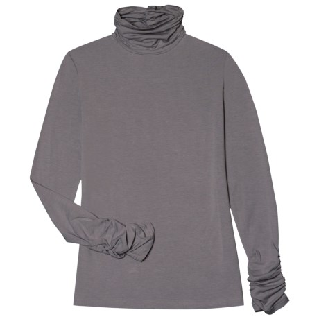 Aventura Clothing Glenora Turtleneck - Long Sleeve (For Women) in Pewter