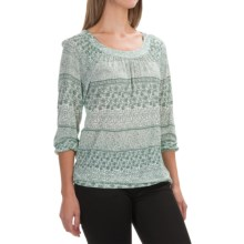 Aventura Clothing Goodwyn Shirt - 3/4 Sleeve (For Women) in Blue Spruce - Closeouts