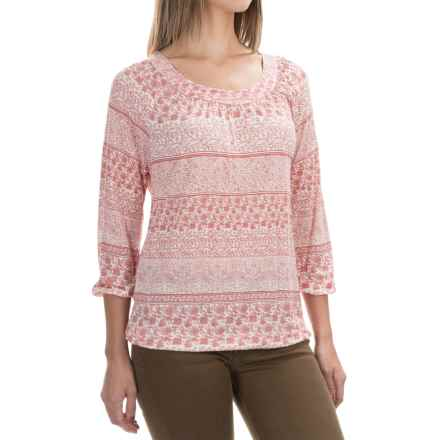 Aventura Clothing Goodwyn Shirt - 3/4 Sleeve (For Women) in Ginger Spice - Closeouts