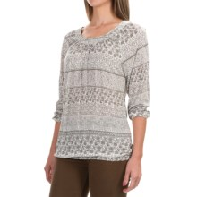 Aventura Clothing Goodwyn Shirt - 3/4 Sleeve (For Women) in Smoked Pearl - Closeouts