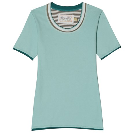 Aventura Clothing Grace T-Shirt - Organic Cotton, Short Sleeve (For Women) in Eggshell Blue