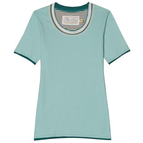 Aventura Clothing Grace T-Shirt - Organic Cotton, Short Sleeve (For Women) in Eggshell Blue