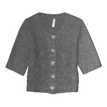 Aventura Clothing Grayson Shrug Sweater - Wool Blend, Elbow Sleeve (For Women) in Charcoal - Closeouts
