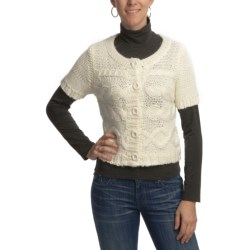 Aventura Clothing Grayson Shrug Sweater - Wool Blend, Elbow Sleeve (For Women) in Whisper White