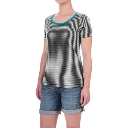 Aventura Clothing Greer Striped T-Shirt - Short Sleeve (For Women) in Black - Closeouts
