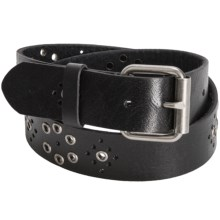 Aventura Clothing Grommet Leather Belt (For Women) in Black - Closeouts