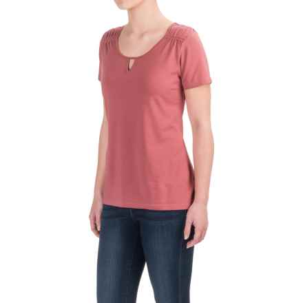 Aventura Clothing Hamlin Shirt - Organic Cotton-Modal, Short Sleeve (For Women) in Deco Rose - Closeouts