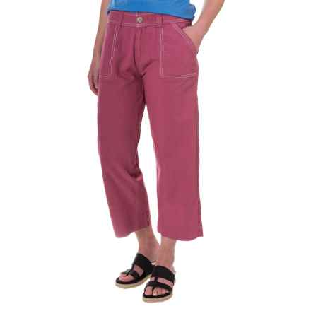 Aventura Clothing Harlow Capris - Organic Cotton-Linen (For Women) in Deco Rose - Closeouts