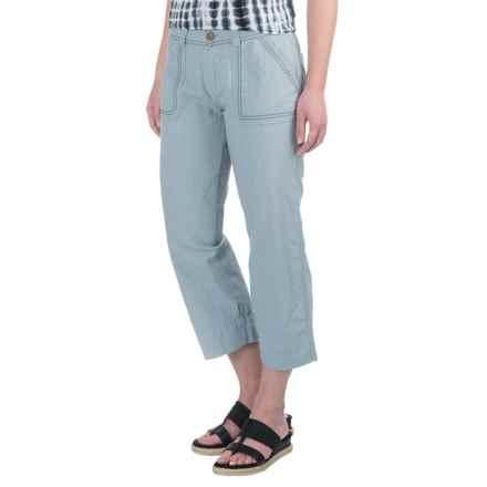 Aventura Clothing Harlow Capris - Organic Cotton-Linen (For Women) in Tradewinds - Closeouts