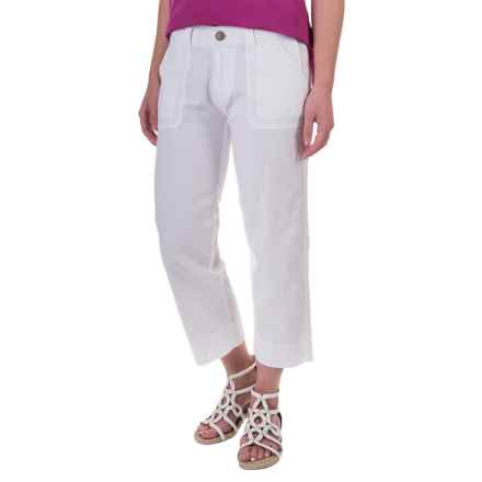 Aventura Clothing Harlow Capris - Organic Cotton-Linen (For Women) in White - Closeouts