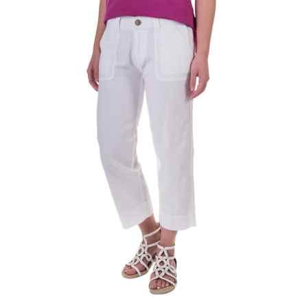 Aventura Clothing Harlow Capris - Organic Cotton-Linen (For Women) in White - Closeouts