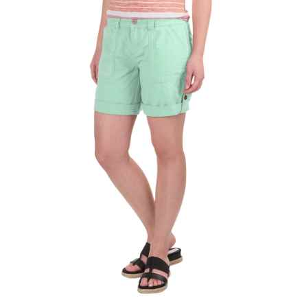Aventura Clothing Harlow Shorts - Organic Cotton-Linen (For Women) in Birds Egg Green - Closeouts