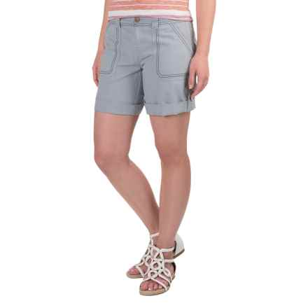 Aventura Clothing Harlow Shorts - Organic Cotton-Linen (For Women) in Tradewinds - Closeouts
