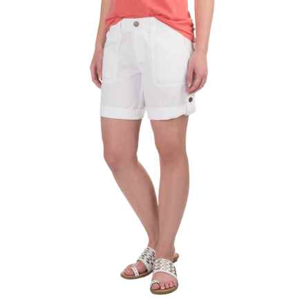 Aventura Clothing Harlow Shorts - Organic Cotton-Linen (For Women) in White - Closeouts