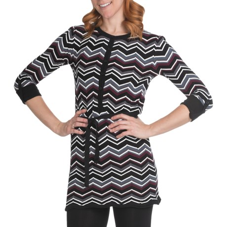 Aventura Clothing Harlowe Tunic Shirt - Organic Cotton, 3/4 Sleeve (For Women) in Black