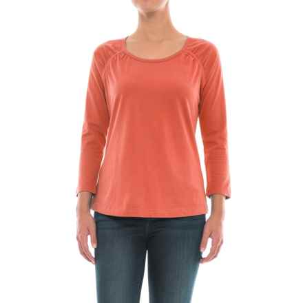 Aventura Clothing Harper Shirt - Organic Cotton, 3/4 Sleeve (For Women) in Chili - Closeouts