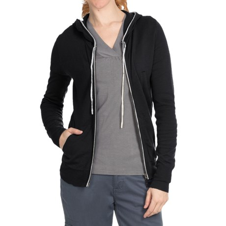 Aventura Clothing Harper Sweater - Merino Wool, Zip Front (For Women) in Black