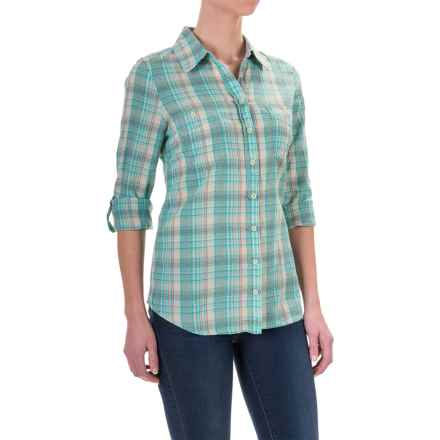 Aventura Clothing Hathaway Shirt - Organic Cotton, Long Sleeve (For Women) in Blue Turquoise - Closeouts