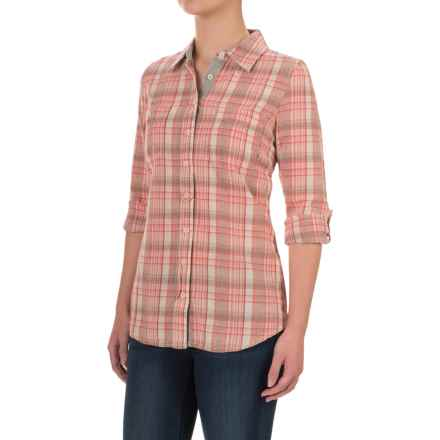 Aventura Clothing Hathaway Shirt - Organic Cotton, Long Sleeve (For Women) in Spiced Coral - Closeouts