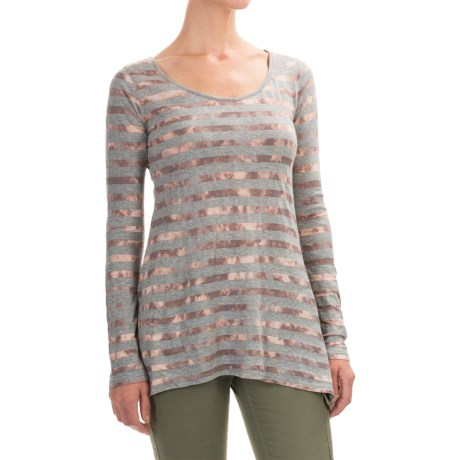 Aventura Clothing Isobel Shirt - Jersey Knit, Long Sleeve (For Women) in Smoked Pearl