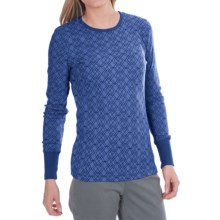 Aventura Clothing Jaeger Burnout Thermal Shirt- Long Sleeve (For Women) in Federal Blue - Closeouts