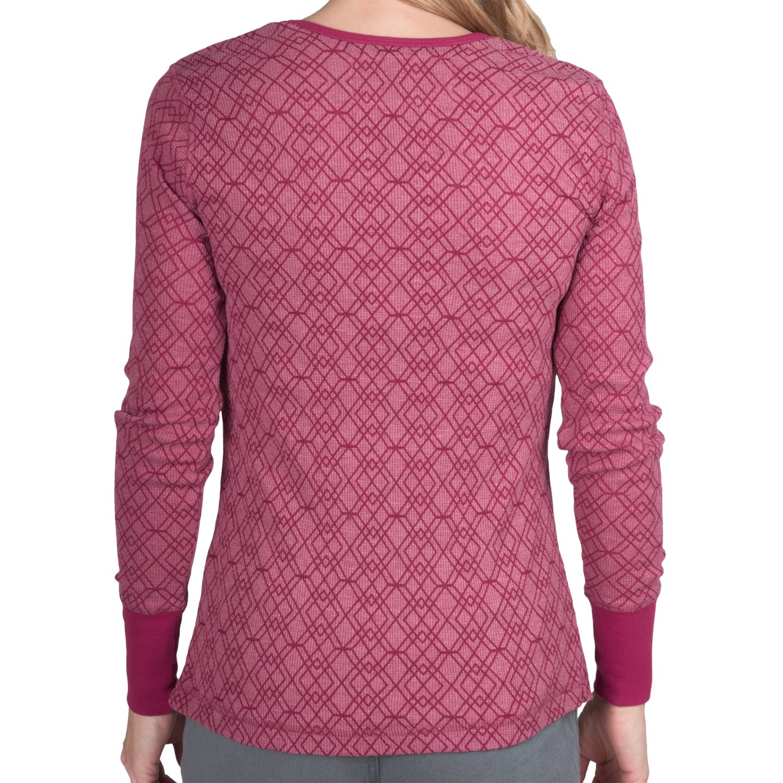 Aventura clothing jaeger burnout thermal shirt long for Thermal shirt for women