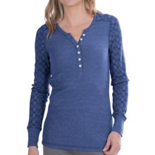 Aventura Clothing Jaeger Henley Burnout Thermal Shirt - Long Sleeve (For Women) in Federal Blue - Closeouts