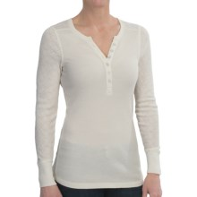 Aventura Clothing Jaeger Henley Burnout Thermal Shirt - Long Sleeve (For Women) in Whisper White - Closeouts