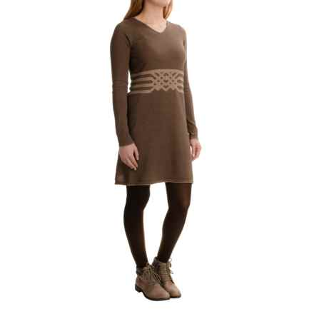 Aventura Clothing Jaelyn Dress - Organic Cotton, Long Sleeve (For Women) in Walnut - Closeouts