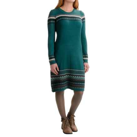 Aventura Clothing Janine Sweater Dress - Long Sleeve (For Women) in Shaded Spruce - Closeouts