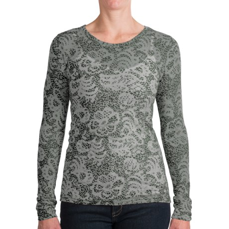 Aventura Clothing Jasper Burnout Shirt - Long Sleeve (For Women) in Cilantro