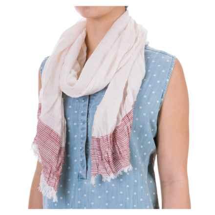Aventura Clothing Jessica Striped Scarf - Viscose (For Women) in Fuchsia - Closeouts