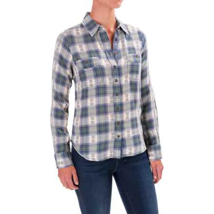 Aventura Clothing Joey Flannel Shirt - Organic Cotton, Long Sleeve (For Women) in Blue Indigo - Closeouts