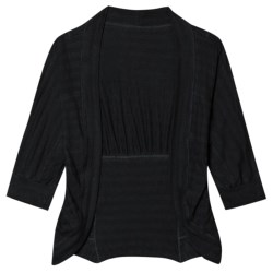 Aventura Clothing Julian Cardigan Sweater - Cotton, Elbow Sleeve (For Women) in Black