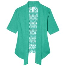 Aventura Clothing Kierra Cardigan Sweater - Short Sleeve (For Women) in Sea Blue - Closeouts