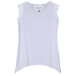 Aventura Clothing Kierra Shirt - Organic Cotton-Modal, Sleeveless (For Women) in Arctic Ice