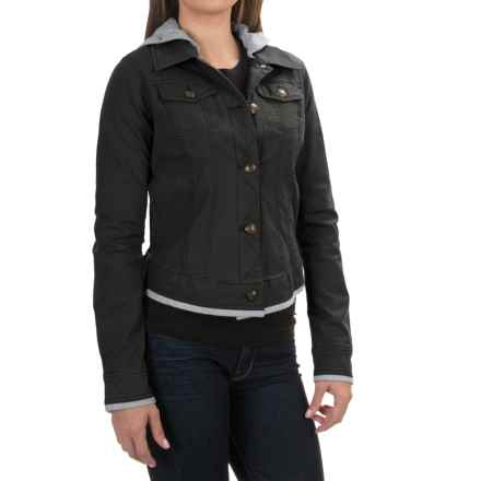 Aventura Clothing Kinsley Hooded Jacket - Organic Cotton, Button Up (For Women) in Black - Closeouts