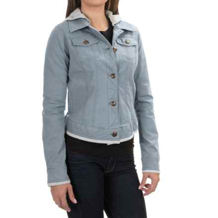 Aventura Clothing Kinsley Hooded Jacket - Organic Cotton, Button Up (For Women) in Flintstone - Closeouts
