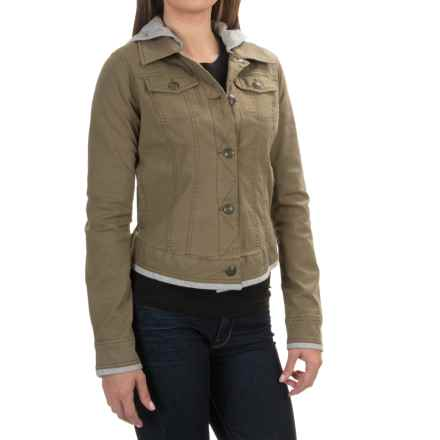 Aventura Clothing Kinsley Hooded Jacket - Organic Cotton, Button Up (For Women) in Olive - Closeouts