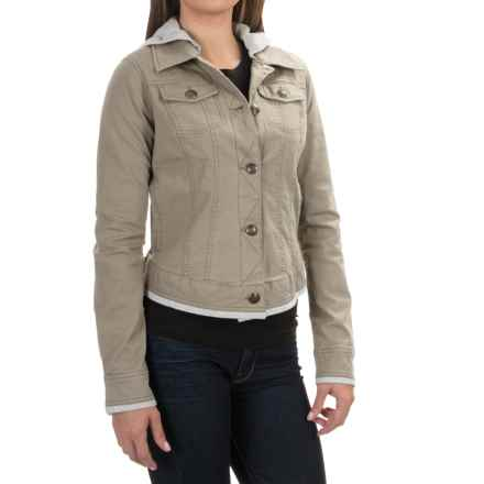 Aventura Clothing Kinsley Hooded Jacket - Organic Cotton, Button Up (For Women) in Plaza Taupe - Closeouts