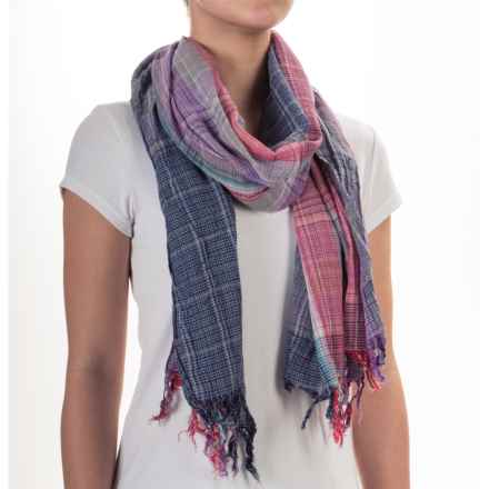 Aventura Clothing Kristina Plaid Scarf (For Women) in Purple - Closeouts