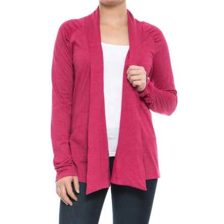 Aventura Clothing Kyle Cardigan Shirt - Long Sleeve (For Women) in Cerise - Closeouts